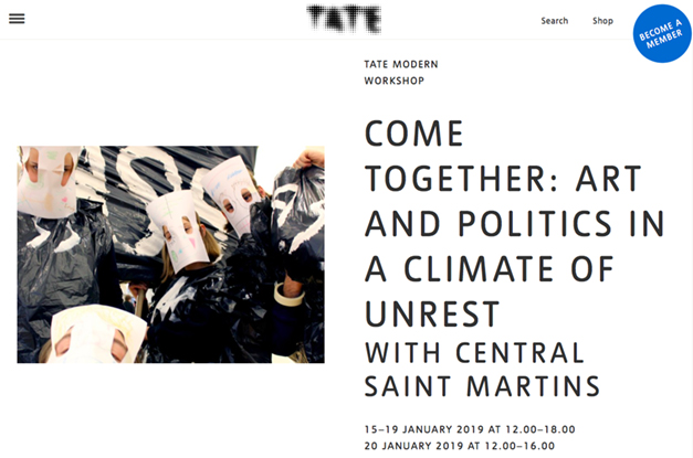 Tate Exchange - Art & politics in a climate of unrest.