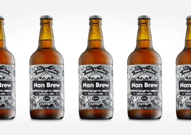 Nan Brew label design
